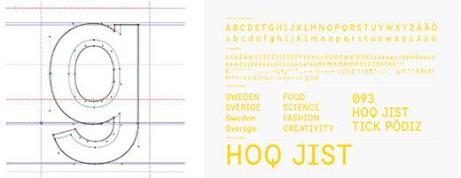 Sweden Sans finns för närvarande i en regular och en bold-version. Det har drag av ett monotypsnitt, spärrat traditionellt, men kvar finns en luftig känsla.