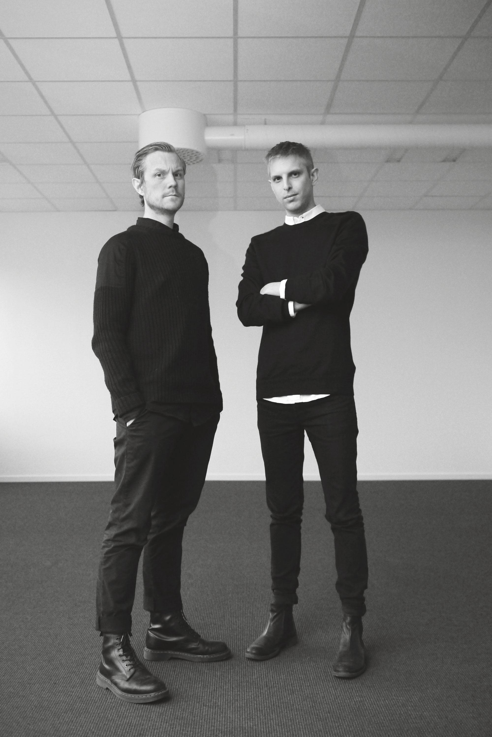 Kristian Hallberg, design director, och Anders Olausson, art director/ designer på CP+B Scandinavia. Foto: Andreas Folkestad