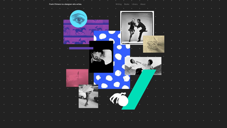 Ethan lyfter också Frank Chimeros webb. Frank är likt Ethan en webdesigner som också skriver böcker, 2012 släppte han The shape of design.
