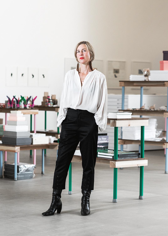 Nina Beckmann, vd på Grafikens Hus. Foto: Jimmy Eriksson.