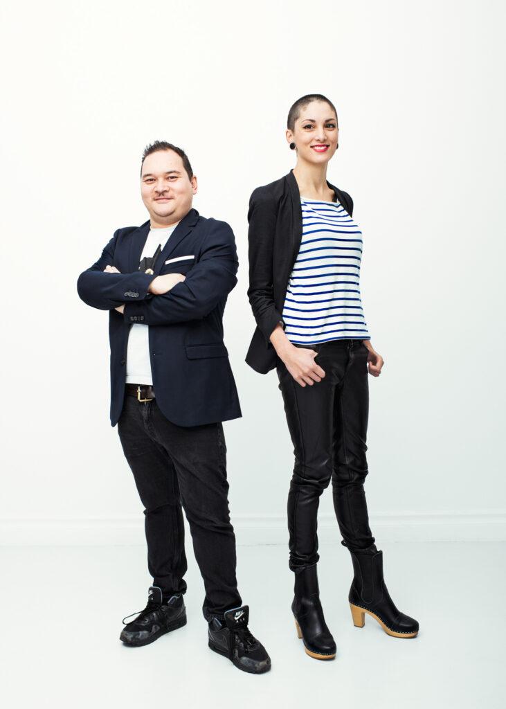 Zaidin Amiot, Utvecklingschef på Mobiento, och Zélia Sakhi, Kreativ chef på Mobiento. Foto: Jimmy Eriksson.