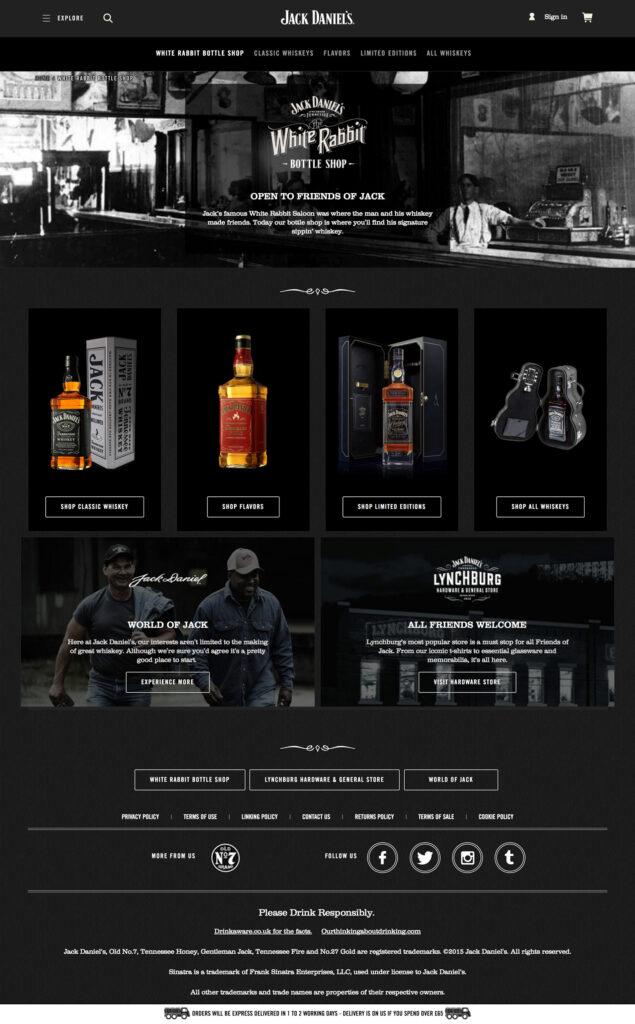 The White Rabbit Bottle Shop heter den ursprungliga butiken i Lynchburg, Tennessee där all Jack Daniel's tillverkas.
