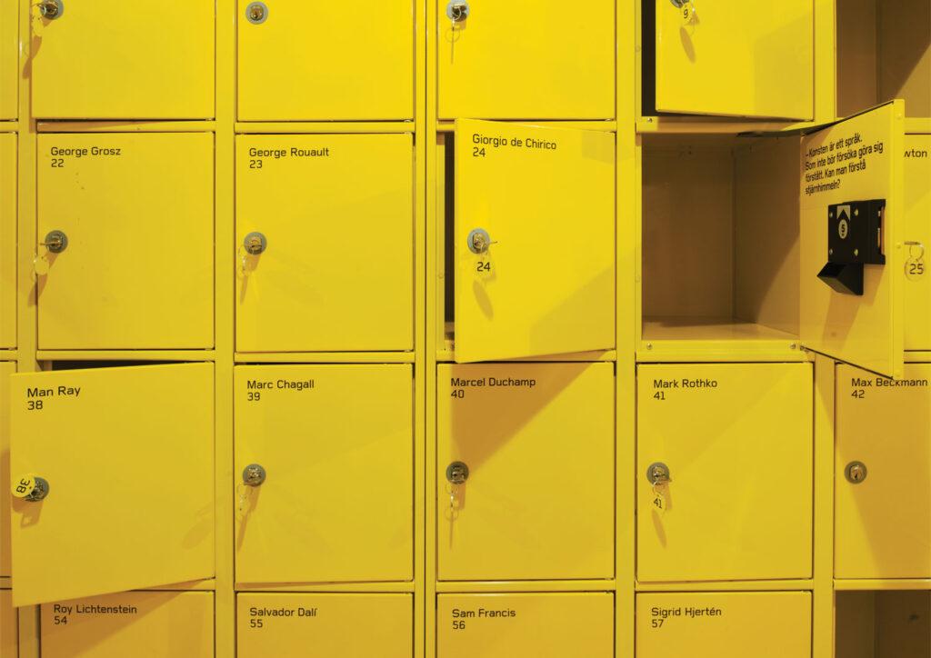 Detalj ur identiteten för Moderna Museet i Malmö i samarbete med Stockholm Design Lab och Greger Ulf Nilson. Foto: Åke E:son Lindman