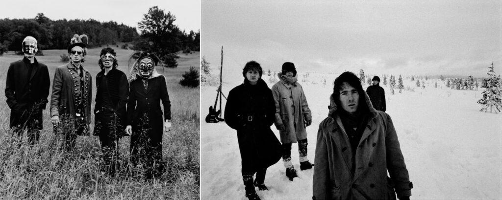 Till vänster: The Rolling Stones, Toronto, 1994. höger: U2, utanför Stockholm, 1982. Foto och copyright: Anton Corbijn