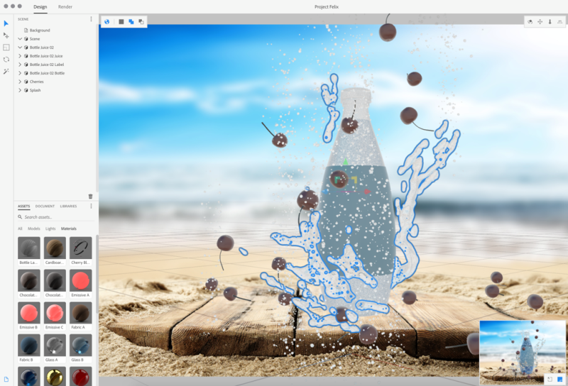 Projekt Felix ska låta formgivare kombinera 2D och 3D för fotorealistiska bilder.