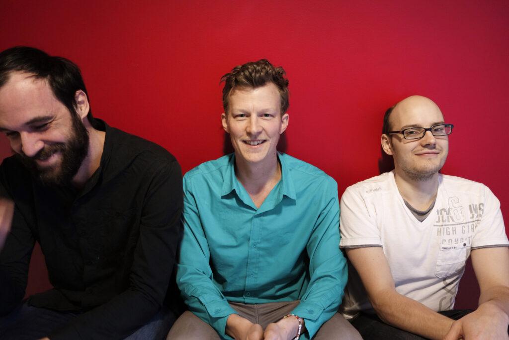 Weld-teamet: Andrés (design), Tom (CEO), and Henric (CTO).