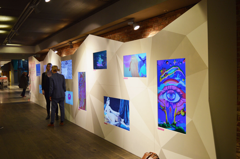 Gif animerad konst i utställning