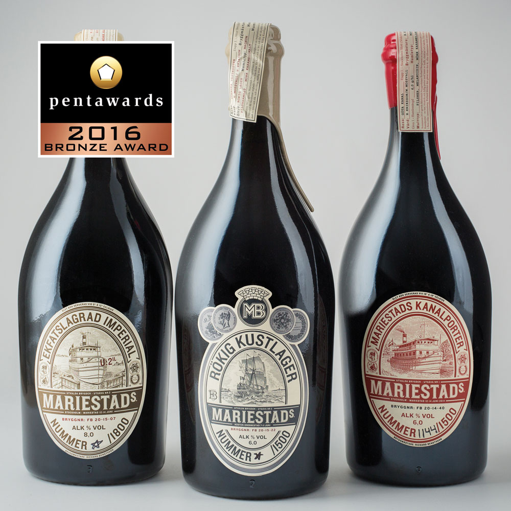 Brons, beverages. Neumeister Strategic Design, Mariestads Limited Edition.