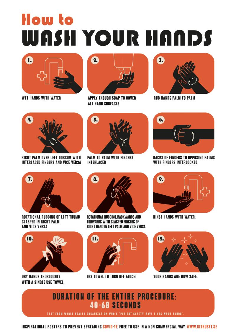 Affisch om handhygien
