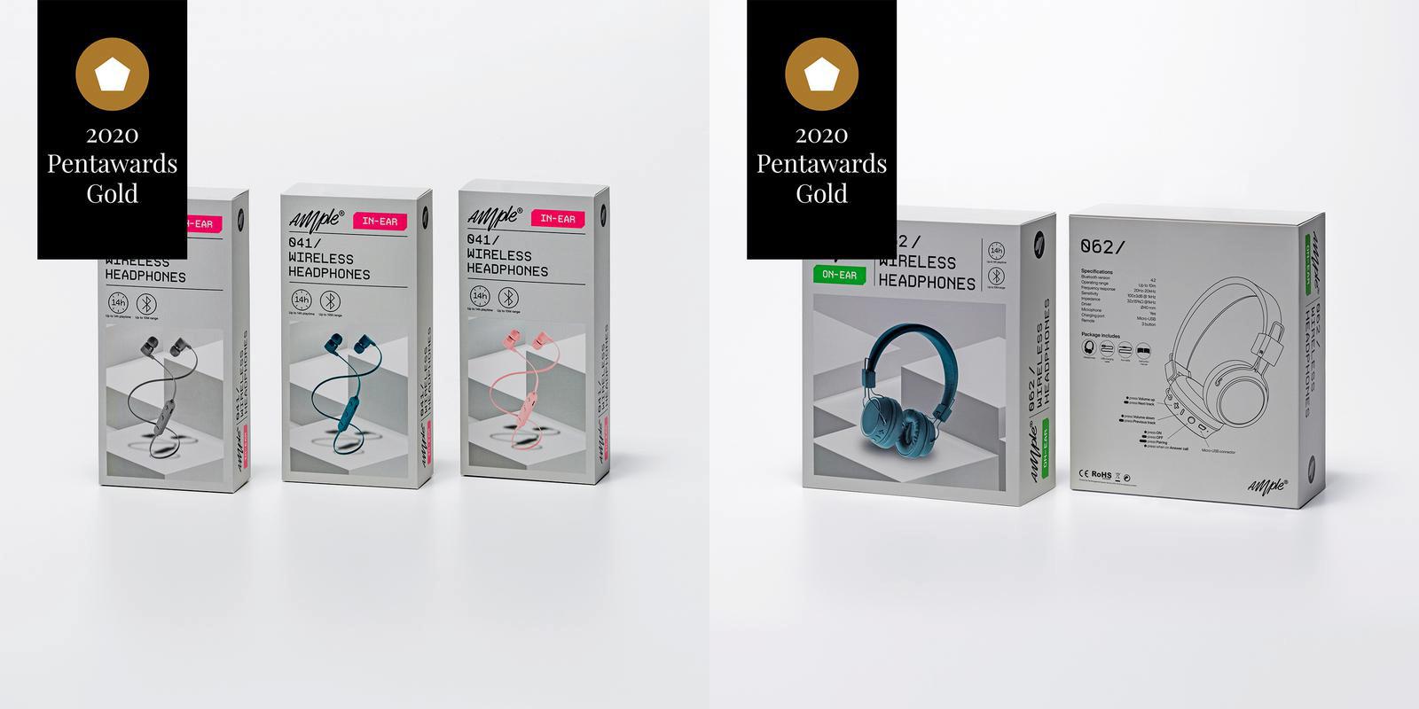Designbyrån Silver fick guld i för en förpackning till hörlurstillverkaren Ample. Foto: Pressbild.