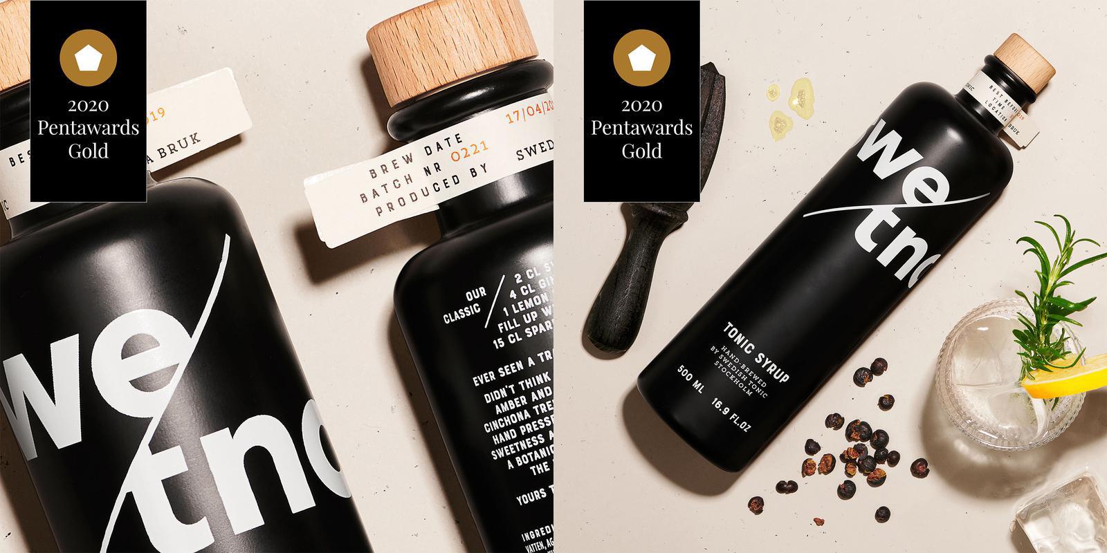 Pond design fick guld för flaskor till Swedish Tonic. Foto: Pressbild.