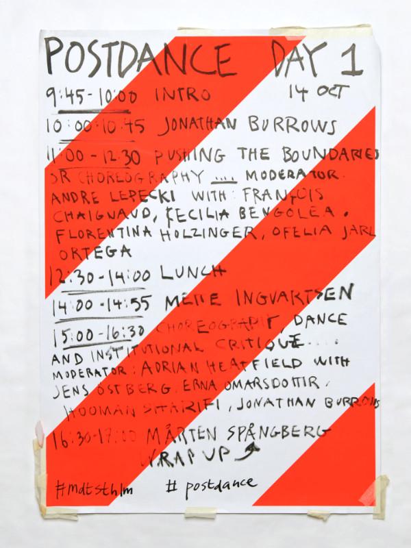 Jonas Williamsson – Affischer, ingick i grafisk profil för koreografi- och performancescenen MDT (2011–2019).