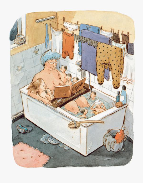 Pija Lindenbaum – Else-Marie och småpapporna, bok, Bonniers Juniorförlag (1990).