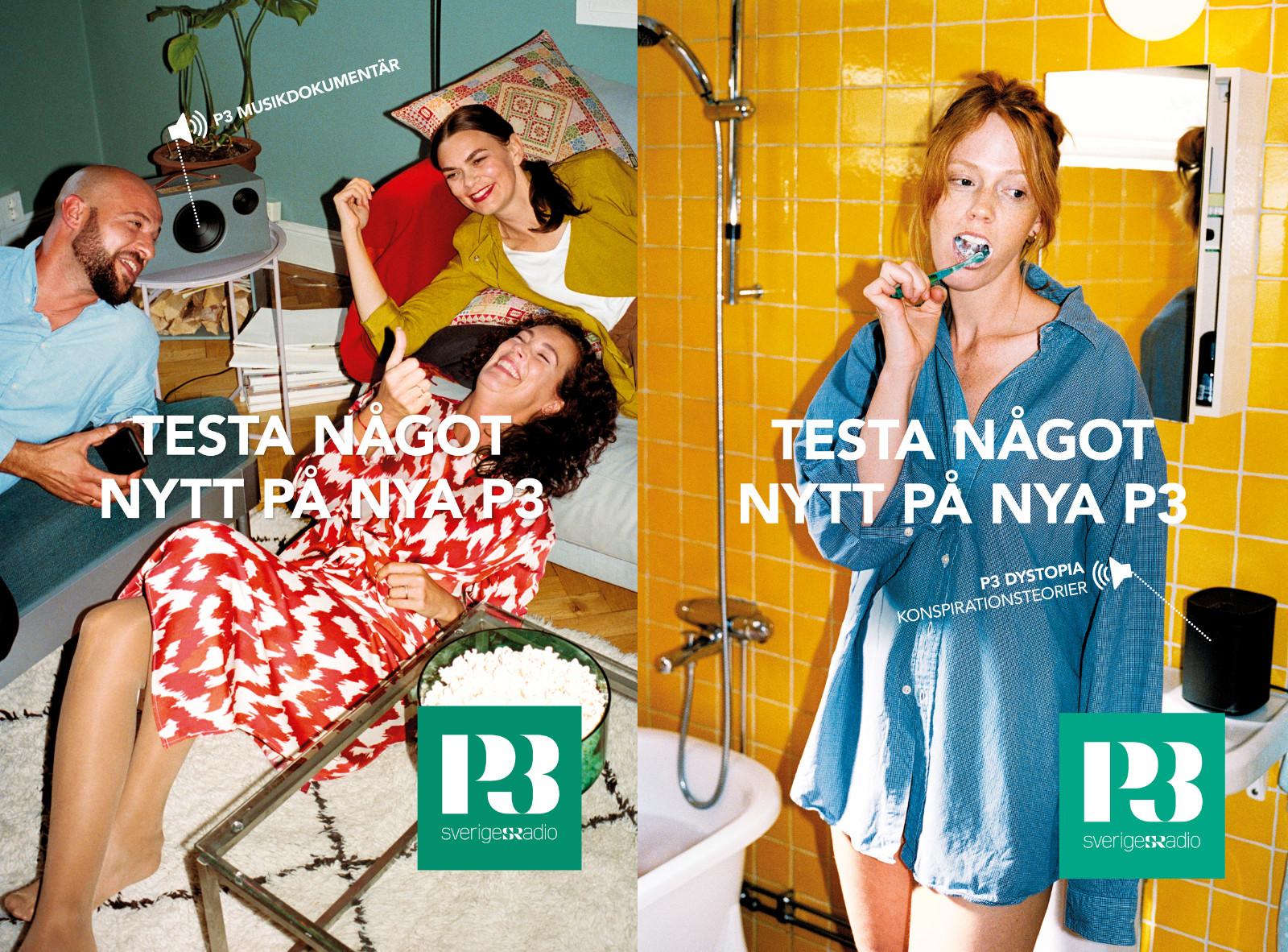 Del av Sveriges Radios varumärkeskampanj för P3 2020. Foto: Felix Swensson.