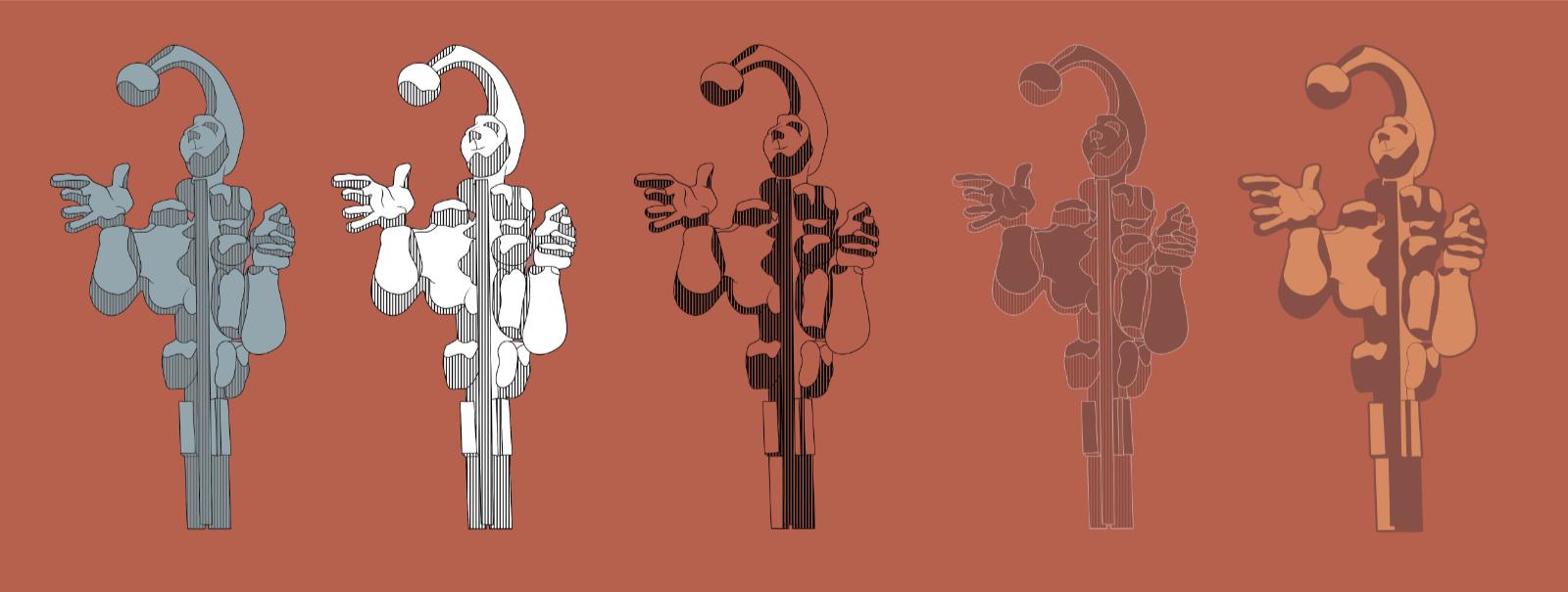Årsta ikoner, färgsättning. Bild: Hummingbirds.