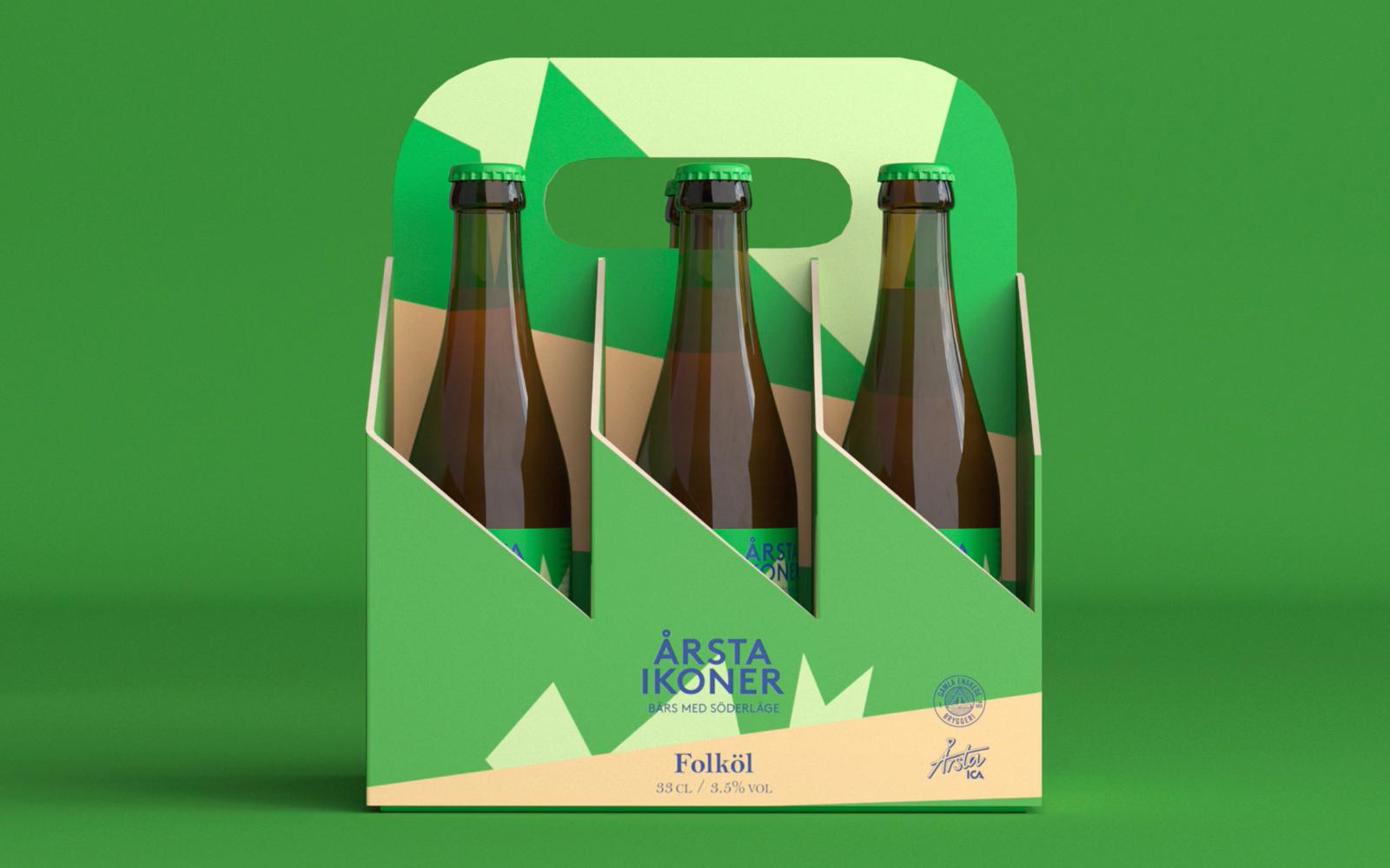 Formen på förpackningen för Årsta ikoner. Bild: Hummingbirds.