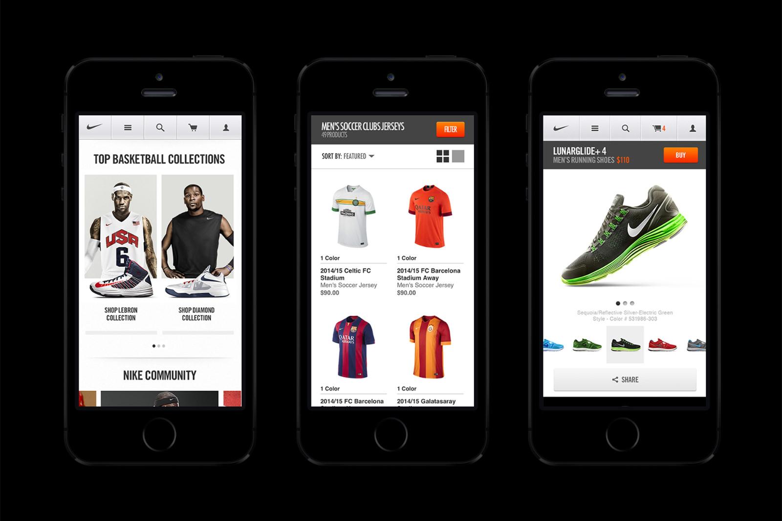 2011 arbetade Erik Herrström i teamet för Nikes konto på R/GA. Bland annat med mobilsajten, e-handel och användargränssnitt. Bild: Skärmdump.