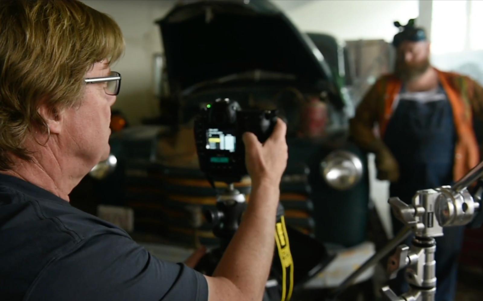 Ur kursen om Speed light, med fotografen Joe McNally. Foto: Screenshot.