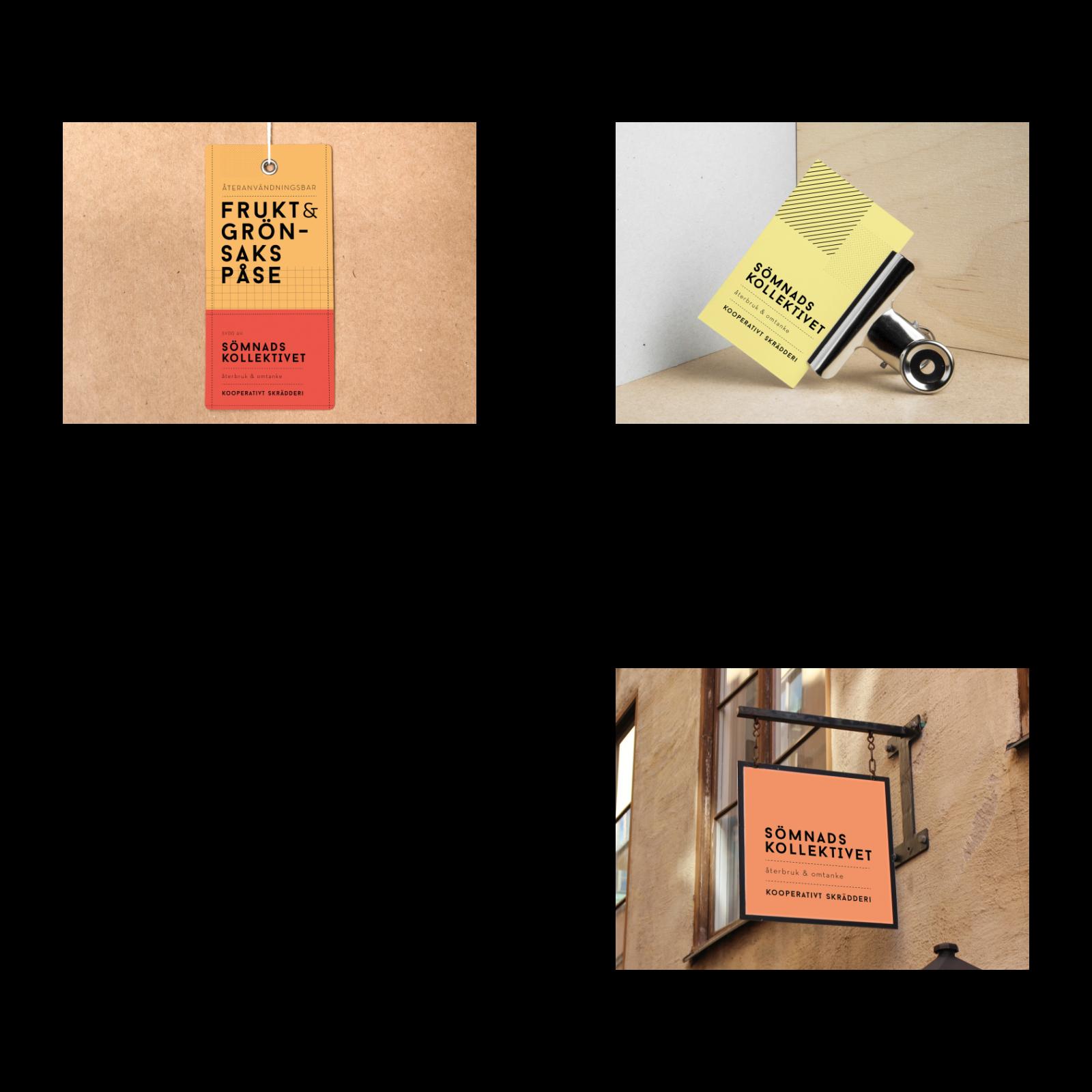 Den grafiska identitet som Geektown skapade för Sömnadskollektivet har belönats med både Svenska designpriset 2018 och German design awards 2020. Foto: Geektown.