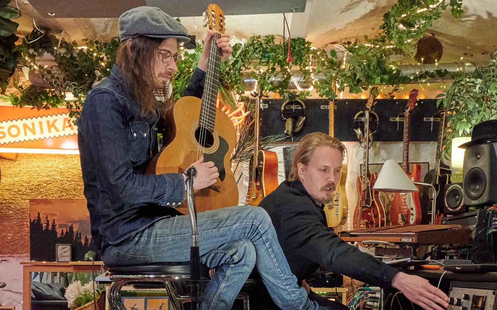 Tom Goren och Christopher Göthberg, Sonika Studio. Foto: Lamin Kivelä.