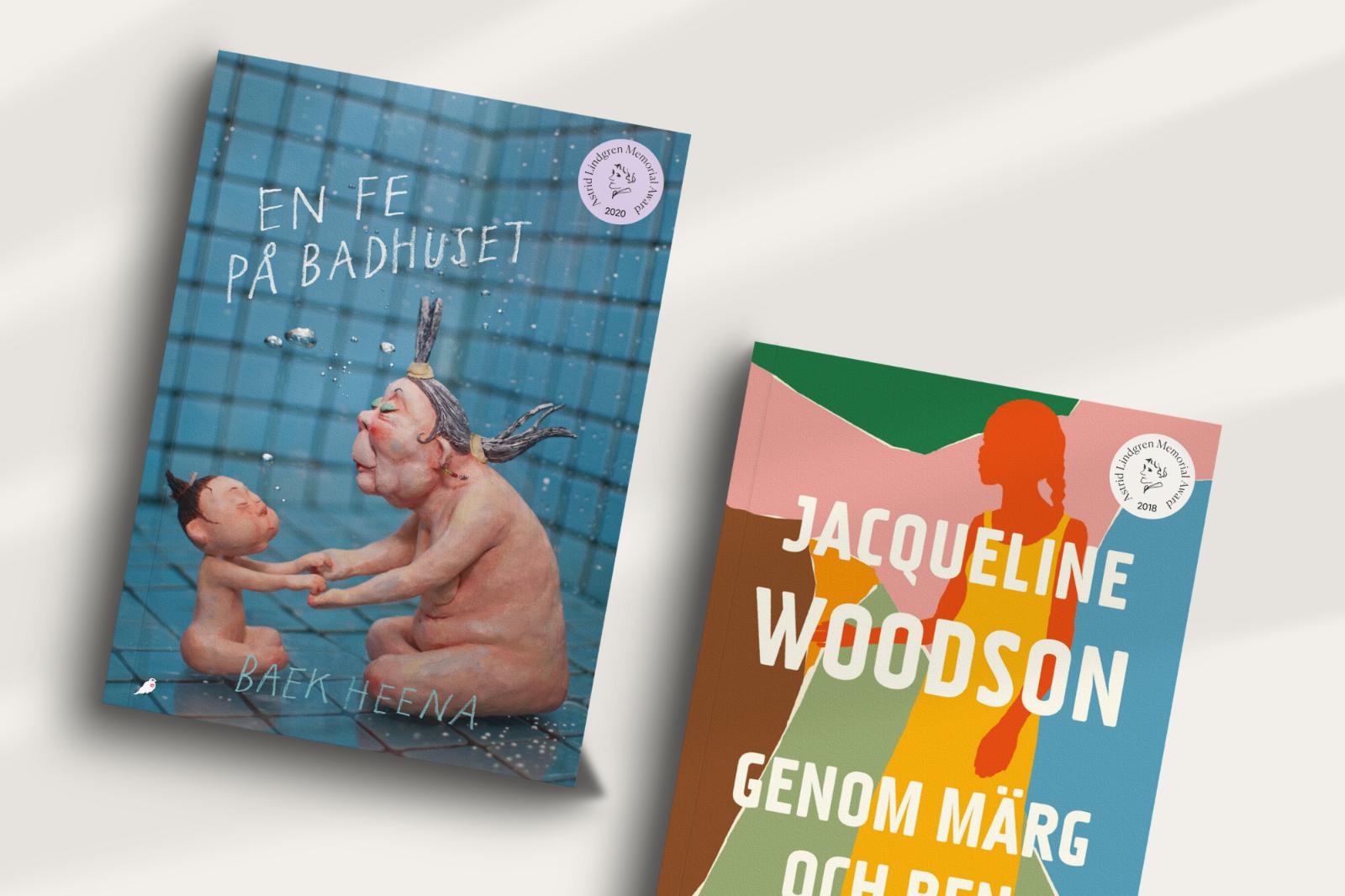 Böcker som vunnit Alma-priset får märkas med en stämpelversion av logotypen. Foto: Pressbild, Happy F&B.