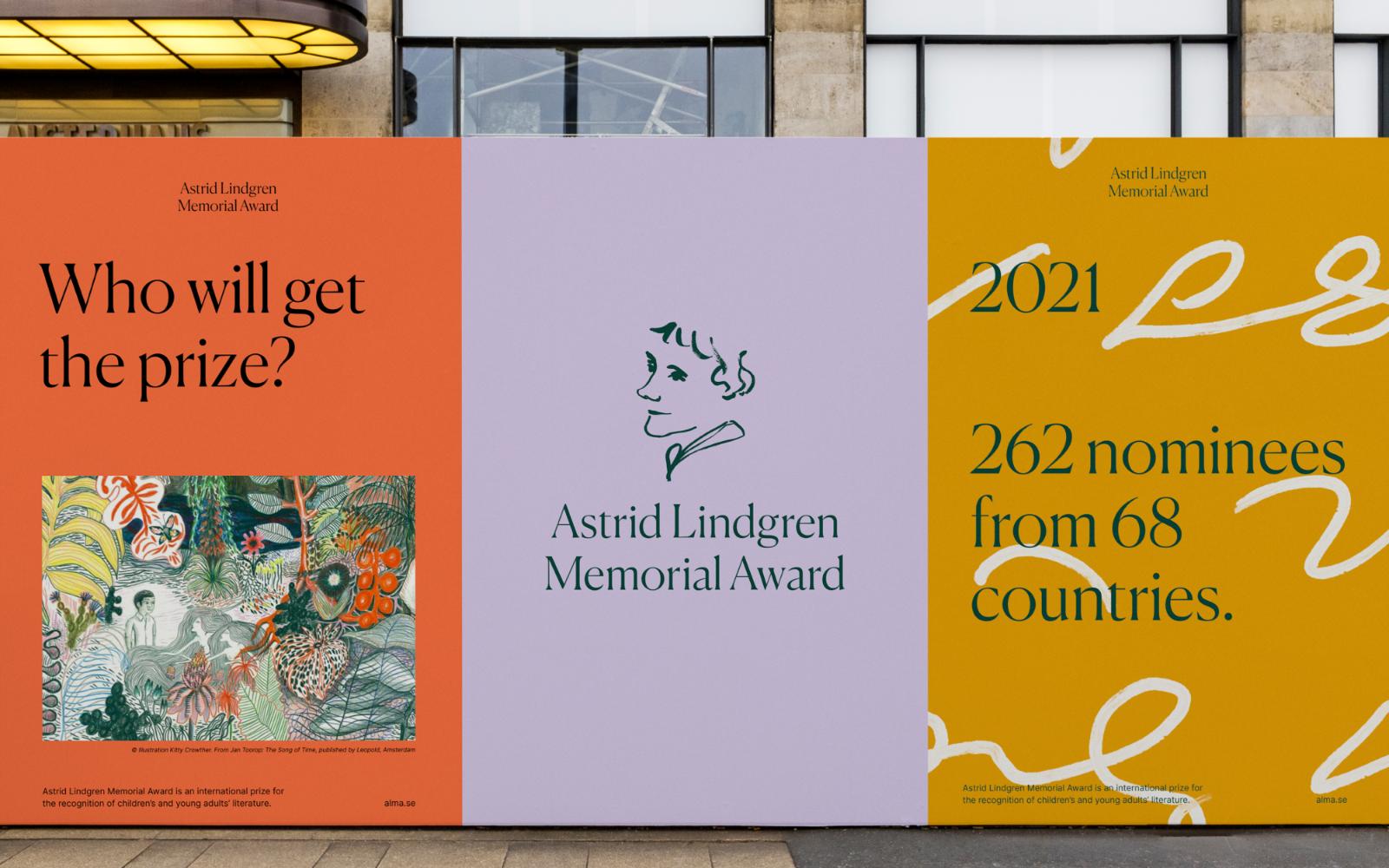 Identiteten utgörs av en logotyp med ordbild, färgpalett, två typsnitt, bildmanér och ett mönster. Mönstret bygger på Astrid Lindgrens stenografi som utgör originalmanuset till boken Karlsson på taket smyger igen. Foto: pressbild, Happy F&B.