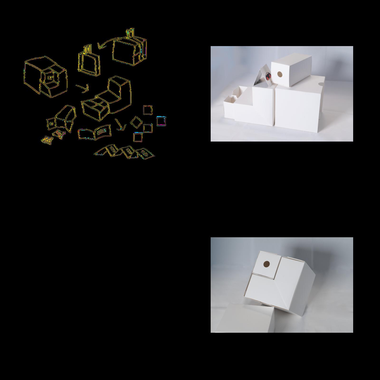 Skiss och prototyper till Swedish Design Memo. Foto och illustration: Fredrika Berghult.