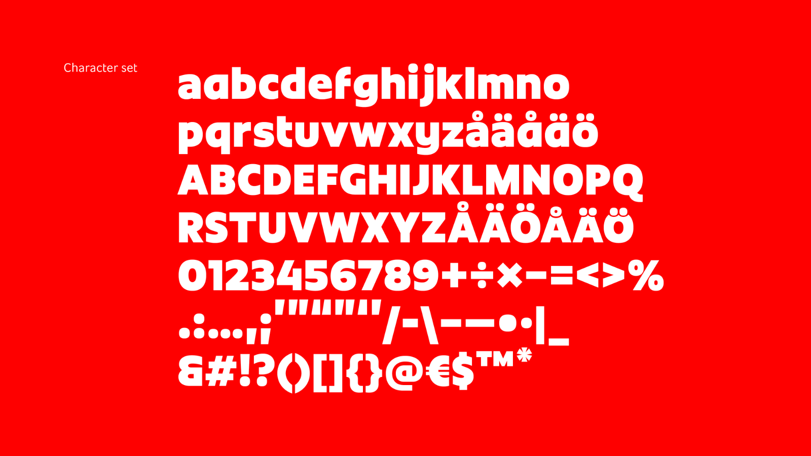 Alla tecken i typsnittet Blocket Display. Djävulen sitter i detaljerna. Bild: NM type.